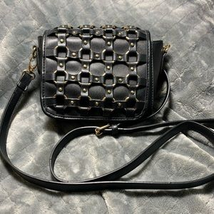 Handbags - Black & gold crossbody purse